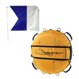 Scubapro Apnoe Boje mit Alpha Flagge