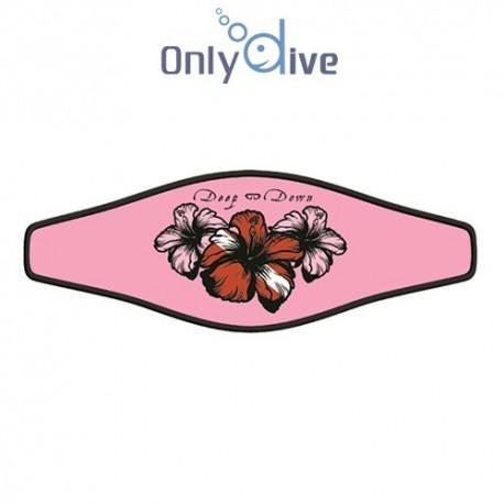 Neoprene Maskenband Hibiscus