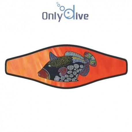 Neoprene Maskenband Clown Tigger Orange