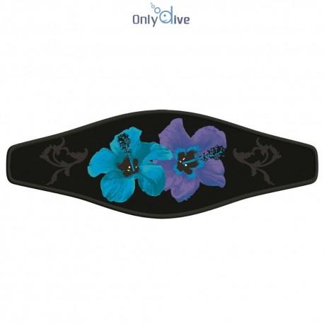 Neoprene Maskenband - Hibiscus blue