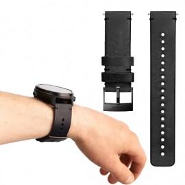 Suunto D5 - bracelet cuir noir