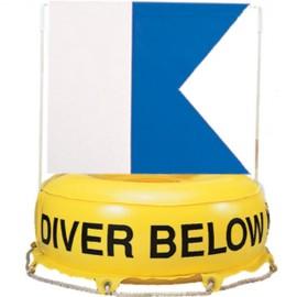 Bouée de signalisation avec drapeau alpha
