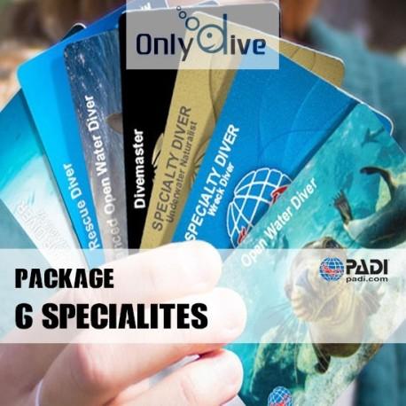 PADI Package 6 Spécialités