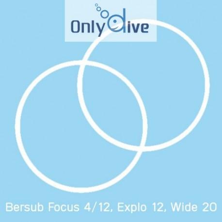 Bersub Focus 4/12, Explo 12 und Wide 20 Lampen Teflondichtungen