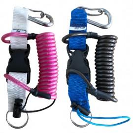 Bersub Câble spiralé coloré avec mousqueton