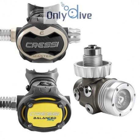 Cressi Atemregler T10-SC Master und octopus MG Balanced