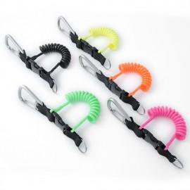 Best Divers Câble spiralé coloré avec mousqueton