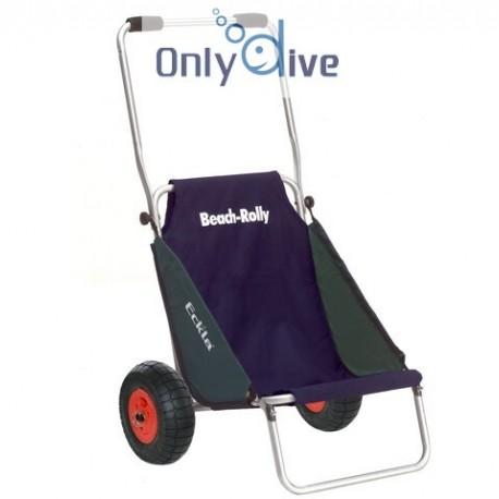 Chariot Eckla Beach Rolly avec roues pneumatiques