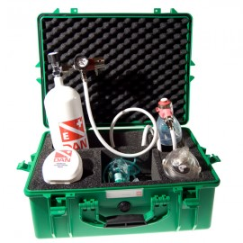 DAN Sauerstoffausrüstung mit Flasche 2,5 l.